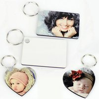 Transfer Thermal Photo Mdf Keychain Pendant Favor Exquisite Wooden Key Chain Printing Photos Coating Wood Painting Blank Heat Transfers Diy