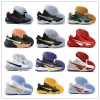 2021 Yeni Moda Zoom Yunan Freak 2 Giannis Antetokounmpo Siyah Beyaz 22 Renkler GA I 1 S İmza Erkek Basketbol Ayakkabıları GA1 Spor Sneaker