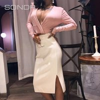 Split Bag Hüfte gestrickte Longuette Frauen 2021 -selling Slim Sexy Harajuku Nicht-Mainstream Solid Color Rock Frauen Röcke
