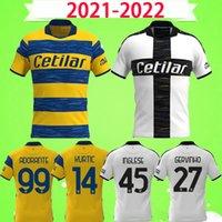 21 22 파르마 축구 유니폼 CORNELIUS HERNANI JR GERVINHO 2021 2022 KARAMOH Maglia de Calcio ENGLISH 축구 셔츠 GRASSI ADORANTE 홈 어웨이 최고 품질