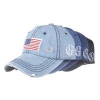 الولايات المتحدة الأمريكية رعاة البقر القبعات ترامب قبعات البيسبول الأمريكية غسلها الأعلام الولايات المتحدة ذات ظلة قبعة حزب