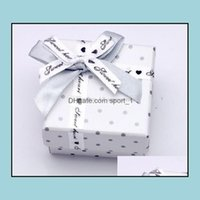 Boxes & Jewelryluxury White Dot Ring, Earring, Pendant Jewelry Packaging Love Gift Wedding Favor Box Packing Case Display 5X5Cm Drop Deliver