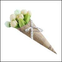 Decorative Wreaths Festive Supplies & Gardenkraft Paper Handmade Daisy Artificial Simation Flowers For Wedding Party Home Design Bouquet Dec