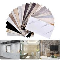 Wall Stickers Modern Thick Self Adhesive Tiles Floor Marble Bathroom Ground Wallpapers PVC Bedroom Furniture Sticker Room Decor