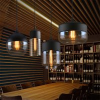 Pendant Lamps Nordic LED Lights Clear Glass Lampshade Coffee Store E27 Dinning Room Home Decor Hanglamp Light Fixtures