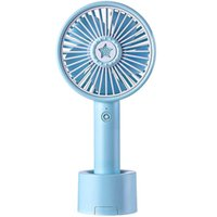 Electric Fans Mini Handheld Fan Portable USB Cooling Fan- With Removable Aroma Diffuser,with Stand Base( Blue)