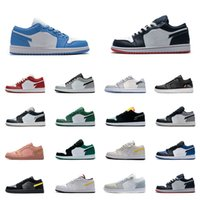 AJ1 Herren-1-Basketball-Schuhe Low OG 1s Frauen Spiel Royal Gym Red Gebannt Bred Chicago Black Toe Court Lila Pine Grün UNC-Turnschuhe