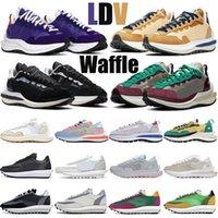 blazer sacai vaporwaffle waffle koşu ayakkabıları ldv vaporwaffle erkek tıknaz tan Naylon beyaz erkeklerin kadınları eğitmen doğa sporları koşucu ayakkabı waffle