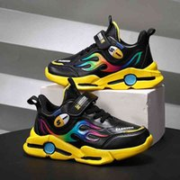 Boys' 2021 autumn new cool trend sports students' running casual children's shoes