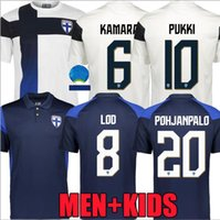 2021 Finlândia Jerseys 21/22 Home Jersey Pukki Skrabb Raitala Pohjanpalo Kamara Sallstrom Jensen Lod National Team Football Shirts Uniform Tops Tailândia