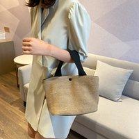 2021 woven bags women designer fashion black white Seaside summer beach vacation retro handbag straw wovening bag in stock