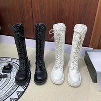 Boots 2021Sexy White Party Shoes Woman Over The Knee Girls Fancy Dress Wedge Women PU Leather Size 39