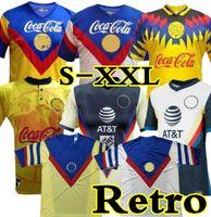 1993 1994 Liga MX Club América Retro Soccer Jerseys Laranja 93 94 20 México Futebol Camisa