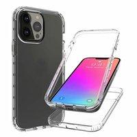 2 في 1 360 حالات التدرج الصدمات الكامل لفون 13 برو ماكس phone13 مصغرة iPhone13 سلسلة 2021 2in1 شفافة الصلب pc لينة tpu اثنين لون الهجين طبقة الهاتف غطاء