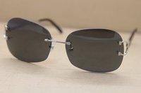 제조 업체 도매 선글라스 무선없는 품질의 절반 Tonec 프레임 디자인 뜨거운 장식 판매 UV400 2021 안경 특대 C 4193829 W FXMS