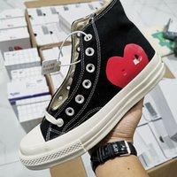 Nuovo Luxury Classic Skate Shoes Chuck Canvas Gioca congiuntamente GRANDI GLI OCCHI ALTA TOP DOT CUORE DONNA DONNA DONNA DONNA FASHION Designer Sneakers Chaussures