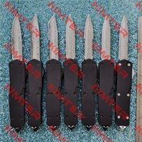 Полноразмерный черный призрак D / A OUT передний автоматический нож 100% реальный дамаск лезвие Цинк-алюминиевая ручка EDC Тактический коллекция Охотничьи карманные подарочные ножи Cncostco