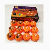 Halloween Ghost Festival Pumpkin Decoration Props LED Electronic Candle Party Supplies Glowing Night Lights W239