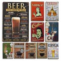 Vodka Beer Affiche de la bière Métal Panneau mural Décor Vintage Café Vintage Poster Poster Panneaux Pour Cafe Bar Restaurant Déco Decoration Plat Plat