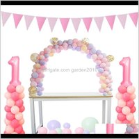 Christmas Decorations Cyuan Arch Garlands Kits Plastic Column Stand Balloon Box Latex Ballons Chain Clips For Birthday Wedding Party D Ofqfl