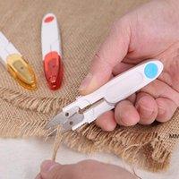 Ciseaux à la main en acier inoxydable U en forme de cisailles à tailleur de ménage rétro pour broderie outils de beauté avec couverture HWB7275