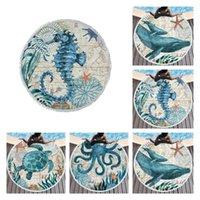 4style European and American Ocean series beach towel Octopus seahorse turtle cute adult microfiber Blanket T2I51875