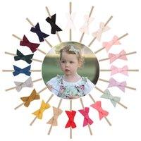 Muchachas Accesorios para el cabello Baby Headbands Arcos Los Niños Hairbands Niños Adornos de algodón Bow Hairband Nylon Soft Bowknot Diadema B7151