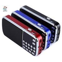 L-088 휴대용 FM 라디오 스피커 디지털 스테레오 미니 음악 플레이어 TF 카드 USB AUX 입력 사운드 상자 손전등 210625
