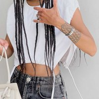 Streetwear Short Open Umbilical White Tops Summer Women Knitted Solid Loose-open Fork Hollow Out Vest 210615