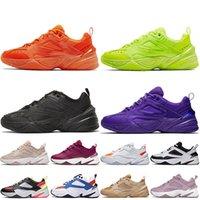 Nike M2k Tekno أزياء المرأة رجل m2k tekno الاحذية الثلاثي الأسود البرتقالي فولت الأرجواني الأبيض قبالة البيج النقي البلاتين حك الدينيم المدربين أحذية رياضية