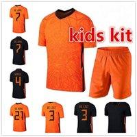 2021 Голландия Memphis de Jong Soccer Jersey Ligt Нидерланды Strootman Van Dijk 2022 Футбольная футболка для взрослых мужчин + детский комплект женщин
