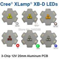 Lekkie koraliki 2 sztuk Cree XBD XB-D 3leds 3chips LED Oświetlenie emiter chłodne białe / ciepłe neutralne czerwone zielone kolory niebieski
