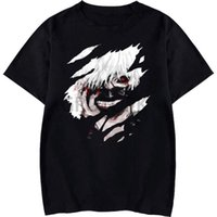 Women's T-Shirt TokyoGhoul Men And Women Summer Tops, Cool Graphic Printing, Anime Short-sleeved Round Neck Harajuku Aesthetic Cotton Clothi