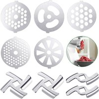 Meat Grinders 9 Pcs Grinder Blades Plate Discs Stainless Steel Food Accessories For Size 5 Stand Mixer And Grin
