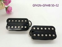 1 SET GFH1 + GFH4 ELEKTRISK GUITAR ALNICO HUMBUCKER PICKUP (Timbre Referens till SD SH1 + SH4)