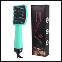 Stock 2 en 1 brosse de sèche-linge brosse électrique chaude cheveux ioniques coups de cheveux coups de coups poivraille poils volumiseur curleuse cheveux secs