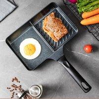 Pfannen Frühstück Omelette Brat Steak Brot Rechteck Küche Kochen Pfanne Induktion Kocher Gas Kookgerei Kochgeschirr DF50JG