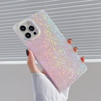 Square Gradient Laser Hyun Color Colourful Phone Cases Soft TPU Silicone for IPhone 11 12 13 Pro Max X XR Xs 8 7 Plus High Quality Shockproof Shell Cover