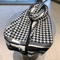 Designer de moda inverno cashmere lenço mulheres 2021 letra flor laço de laço de laço de luxo lenços 180 * 30 cm com caixa 21082701w