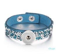 Noosa morks bricolage gingembre bouton-pression bouton bijoux cuir diamante diamante 18mm bouton-pression bouton bracelet charrm pour femmes hommes
