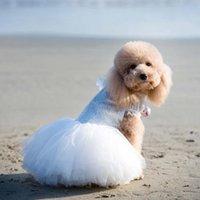 PET DOY DOY DISCO DE BODA Cordón hecho a mano Bordado para perros pequeños Princesa artística Puppy Bride Ropa Chihuahua Poodle Ropa