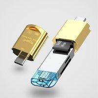 2 em 1 USB C hub OTG Tipo-C para o leitor de cartão Micro-SD TF Adaptador USB3.0