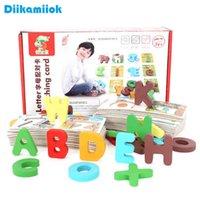 Новое животное и алфавит Соответствующие когнитивные карты 3D деревянные головоломки Детские ранние образовательные игрушки для обучения для детей, чтение карт A0511