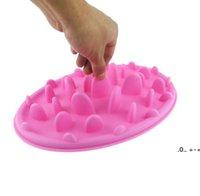 애완 동물 강아지 그릇 강아지 실리콘 천천히 먹는 그릇 안티 질식 음식 물 접시 고양이 개 슬로우 먹는 먹이 보울 피더 3 색 RRF11114