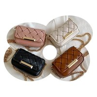 Girls Handbags Kids Bags Children Accessories Mini Mother and Daughte Autumn Winter Woven Childrens Fashion Chain Princess One-Shoulder Messenger Bag B8434