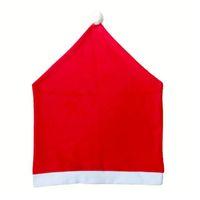 Горячая рождественская крышка стула Santa Prose Red Hat Country задняя крышка ужин стул кепки наборы для рождества рождественские украшения домашней вечеринки GWE8680