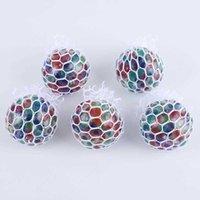 Nuovi strani giocattoli 5.0 cm perline rilascio palla di estrusione perline di uva palla creativo acqua palla pizzica musica all'ingrosso party favore