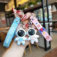Party Favore Cartoon Keychain Keychain Coppia di silicone Spaceman pendente bambola creativo carino zaino piccolo regalo
