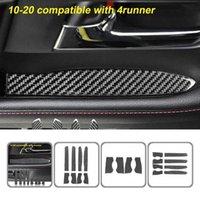 Coffret de stockage de la boîte de rangement en fibre de carbone de la voiture auto-adhésif de voiture pour Toyota 4Runner 2010-2020