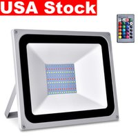 USA Stock RGB LED Flood Lights 30W 50W 100W Floodlights AC110V/220V IP65 Outdoor Lighting Suitable For Wedding, Banquet, Party, Stage
